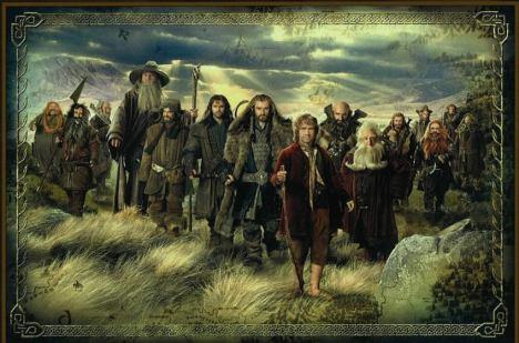 o hobbit capa desenhada filme