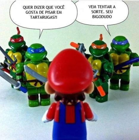mario versus tartarugas ninja bonecos