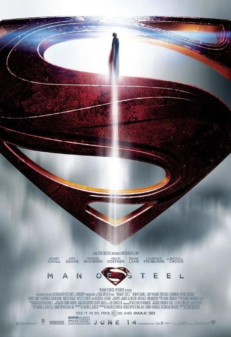 poster do filme Homem de aço voo no S do Superman