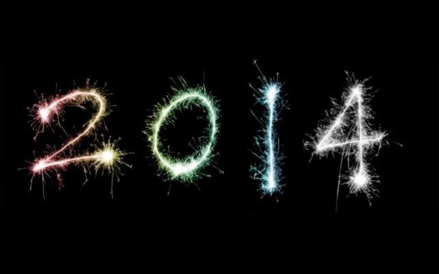 novo ano de 2014 feliz 2014 em fogos