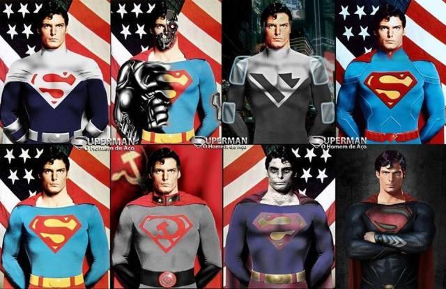 versões do Superman de Christopher Reeve