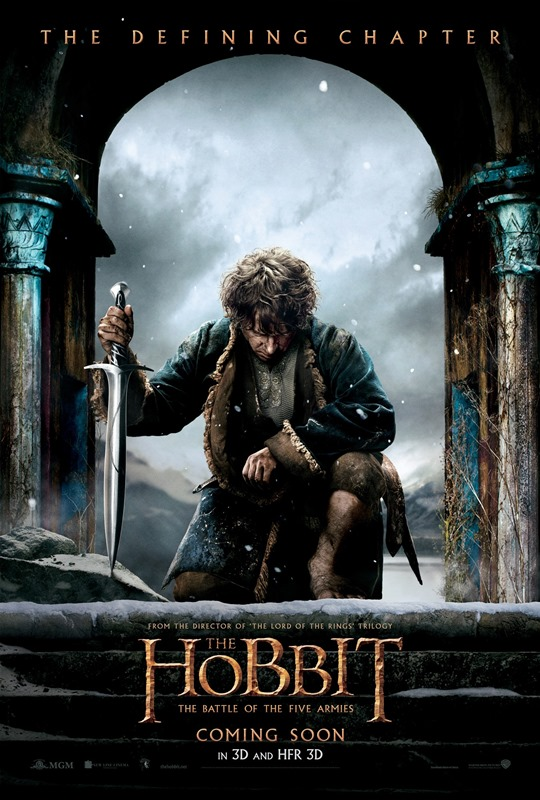 O Hobbit 3 A batalha dos Cinco Exércitos poster do Bilbo Bolseiro