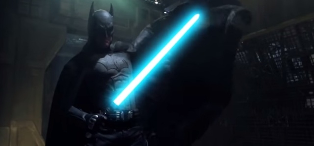 Star Wars vs DC Marvel Batman lightsaber