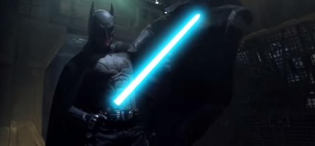 Star Wars vs DC Marvel Batman lightsaber