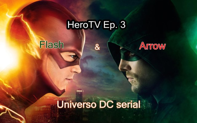 HeroTV 3 Universo DC serial Arrow e Flash capa
