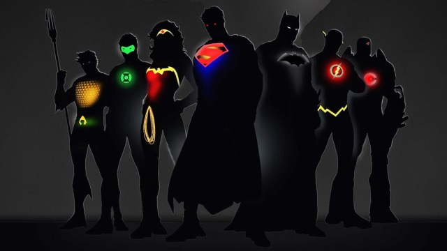 Liga da Justiça silhueta