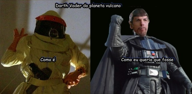 Darth Vader do planeta vulcano