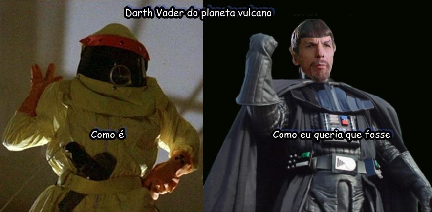 Darth Vader do planeta vulcano