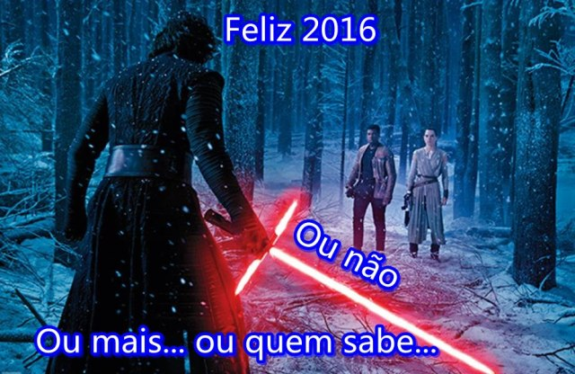 Feliz 2016 Star Wars e Heroi X