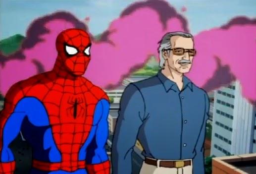 Stan Lee e Homem Aranha Peter Parker serie animada