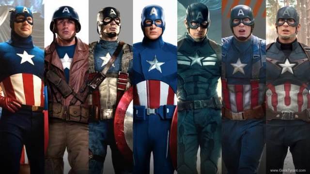 Capitão América uniformes