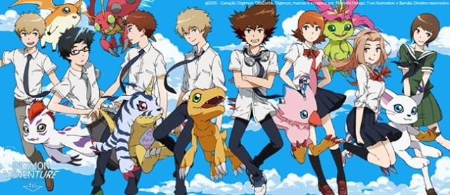 Digimon Adventure Tri digiescolhidos e digimons