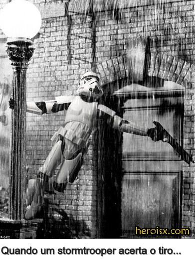Cantando na Chuva Stormtrooper Star Wars memes