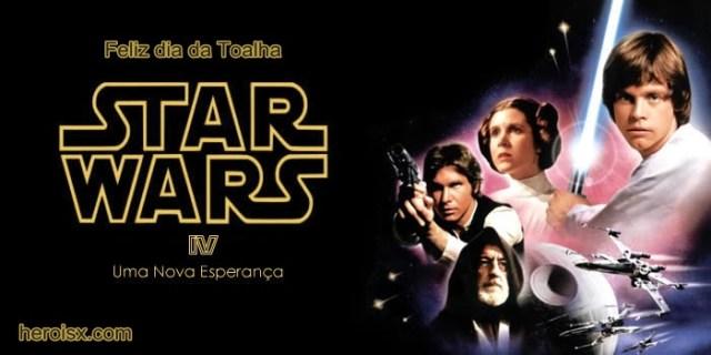 star wars uma nova esperança feliz dia da toalha