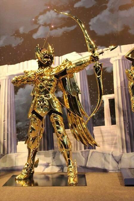 Sagitário armaduras de ouro em tamanho real cavaleiros do zodíaco