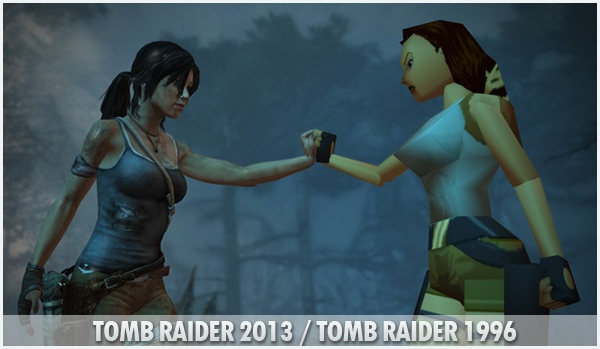 Lara Croft Tomb Raider antes e depois games
