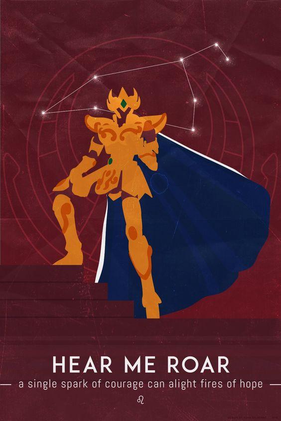 Cavaleiros De Ouro Minimalistas E Frases Heroi X
