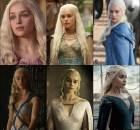 Daenerys Targaryen Temporadas 1 a 6 Game of Thrones antes e depois