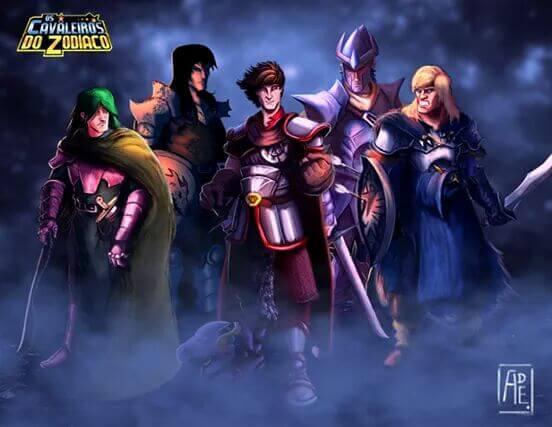 Cavaleiros do Zodíaco medievais saint seiya