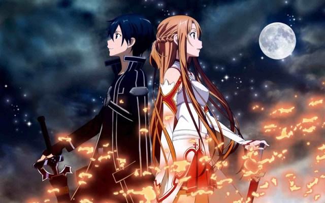 sword art online Kirito melhores animes
