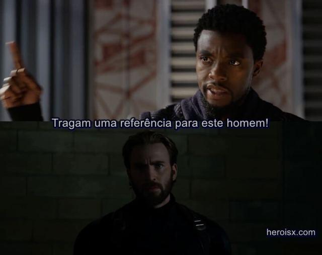 Capitão América Pantera Negra Vingadores Guerra Infinita meme
