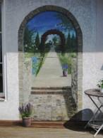 Trompe l'oeil Fassadenmalerei