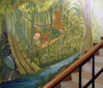 Wandmalerei in einem Montessori Ausbildungskindergarten in Bukoba