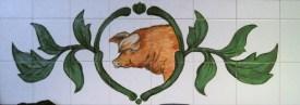 Fleischerei in Barth - Fliesenmalerei