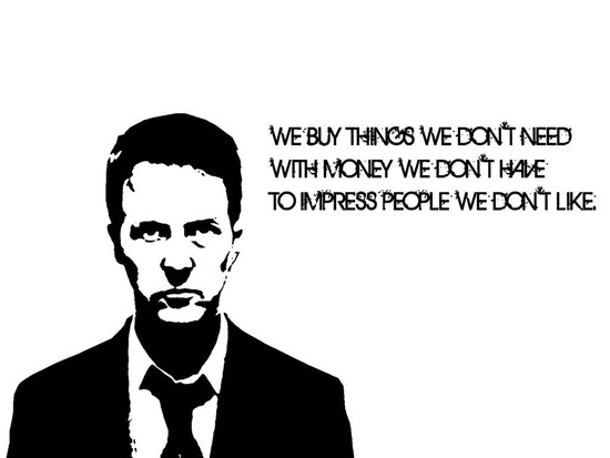 Fight Club minimalism