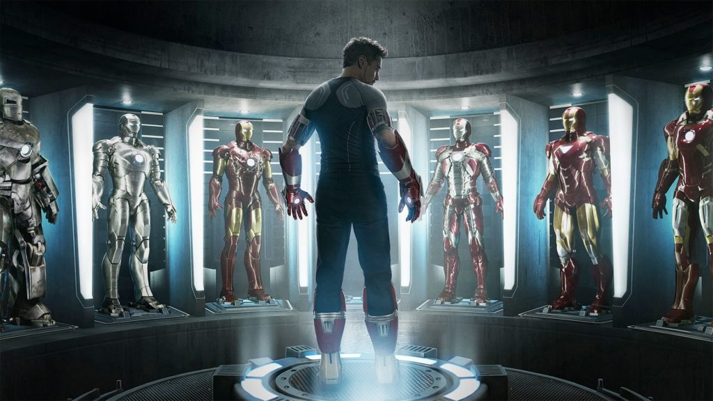 tony stark with his suits