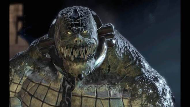 Killer Croc on Batman: Arkham Asylum