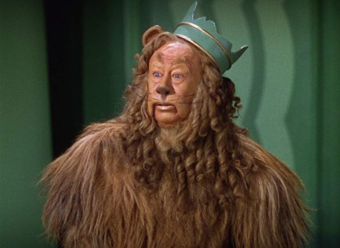 Bert Lahr as The Cowardly Lion from Wizard of Oz 1939 Victor Fleming