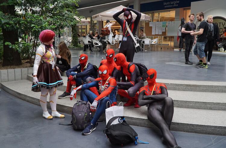 spider-man peter parker miles morales marvel spider-verse Pyrkon 2019