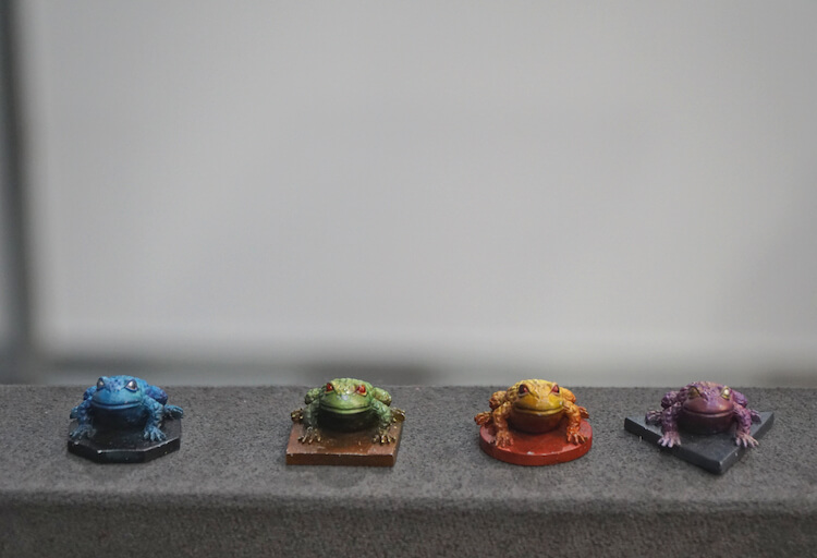figurines frogs rpg Pyrkon 2019