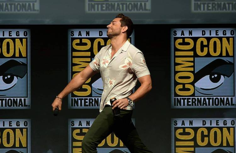 Zachary Levi at Shazam! panel SDCC 2018