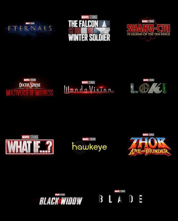 Film list Phase 4 Marvel panel - SDCC 2019