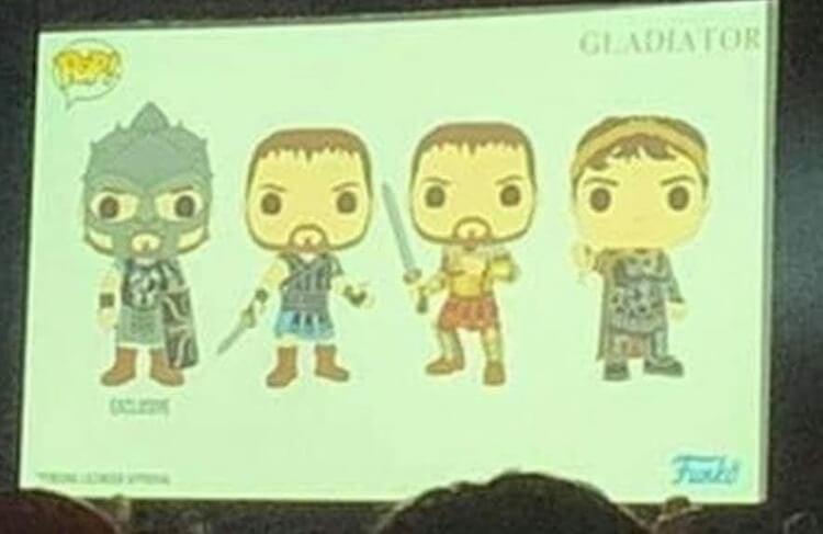 Funko Pop announcements Gladiator