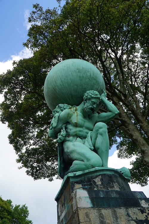 Hercules statue in Portmeirion, North Wales