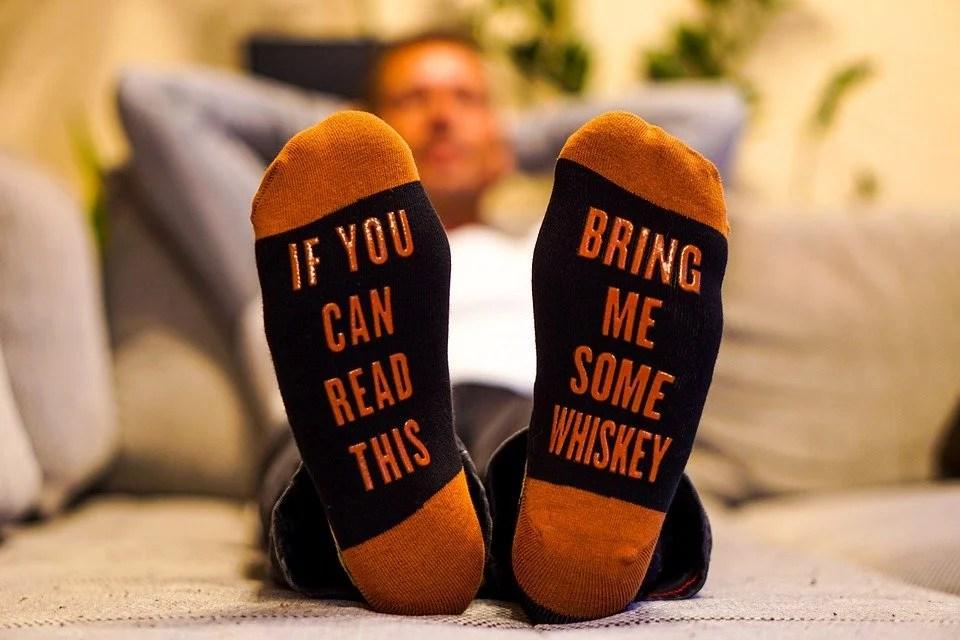 Chaussettes fantaisie pour homme