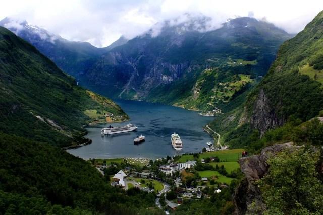 Les fjords de Norvège : vue sur le Geirangerfjord
