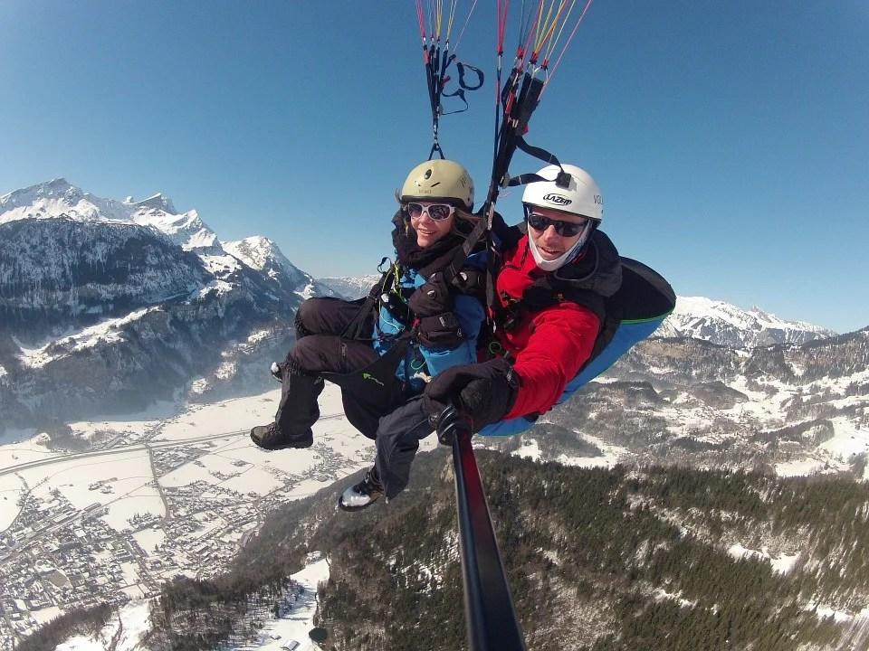 parapente en duo à Chamonix