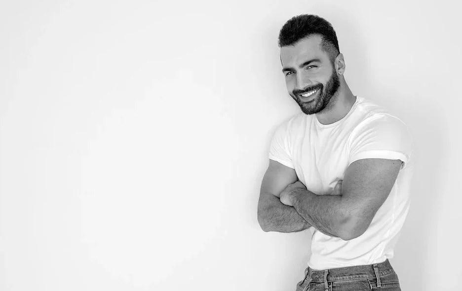 Tee-shirt blanc pour homme tedance