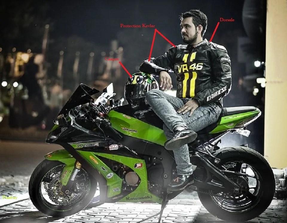 Dorsale moto intégrée