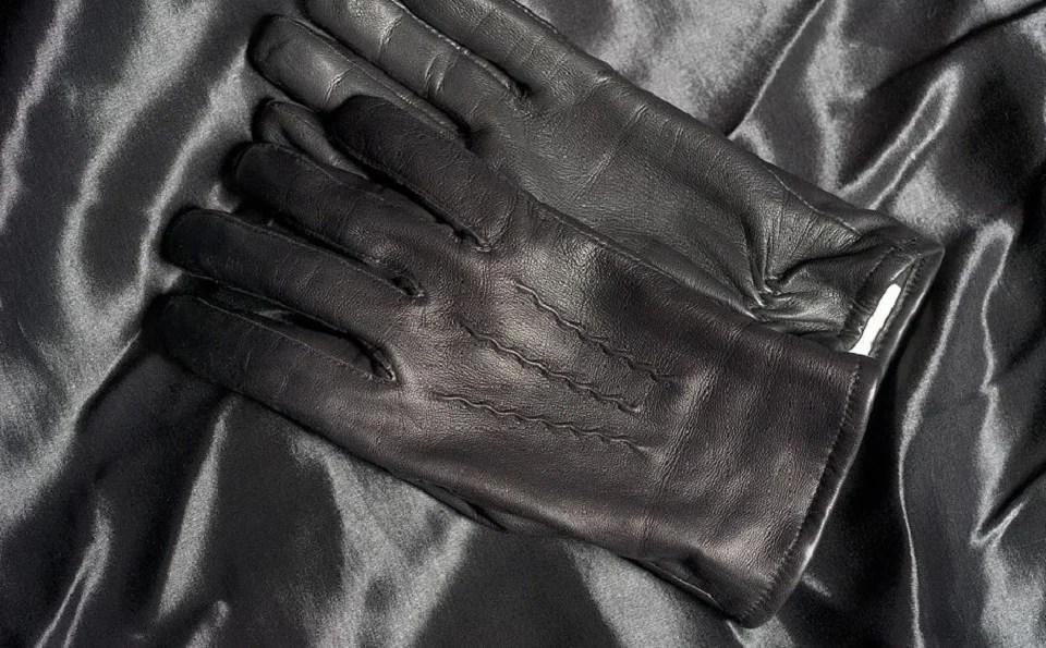 gants homme en cuir noir