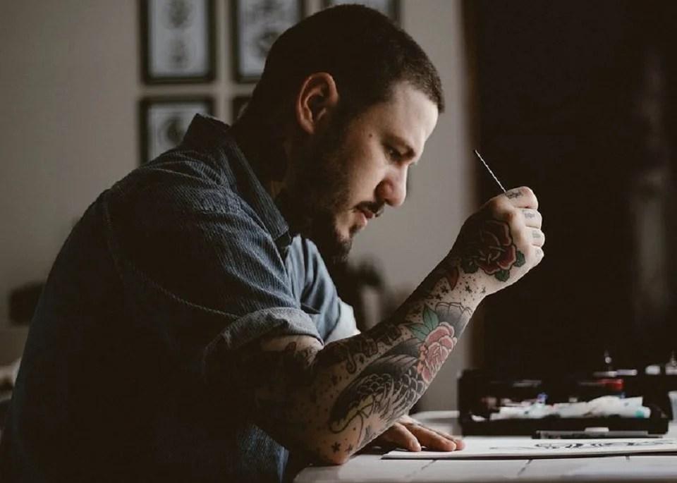tatouage éphémère en manchette