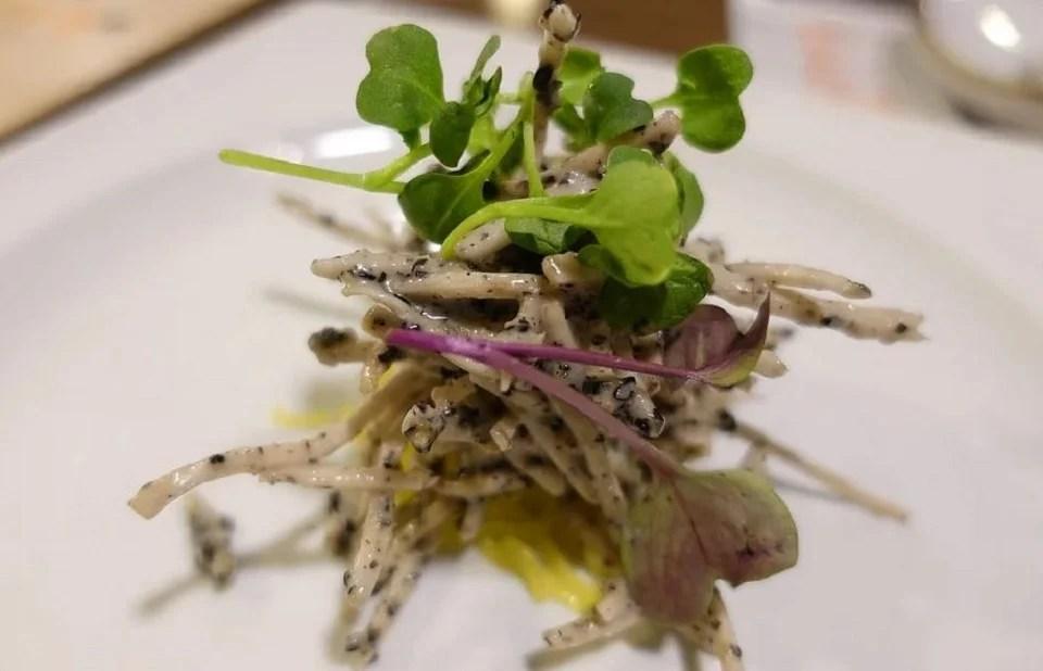 Algues alimentaires version plat gastronomique