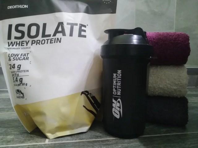 Poudre de protéines et shaker