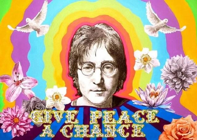 John Lennon et ses lunettes rondesrondes