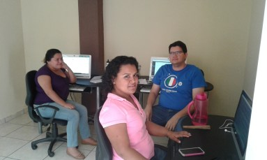 Mayra, Flor, and Luis