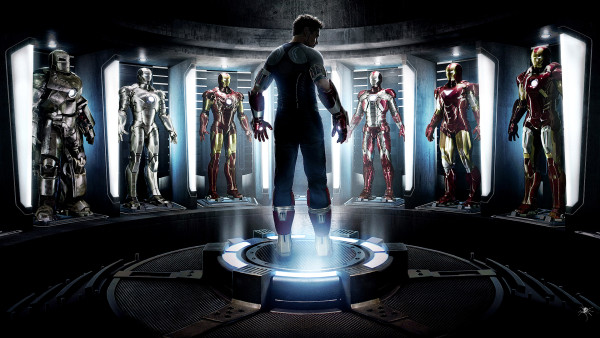 Iron Man Suit in Hall of Armor chamber